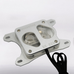 Syscooling C23 new high quality acrylic transparent cover water cooling block for computer cpu