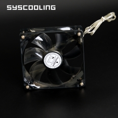 Syscooling 120mm silent fan DC12V water cooling fan pc with colored Led lights